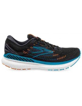 RUNNING SHOES BROOKS GLYCERIN GTS 19 BLACK AND BLUE FOR MEN'S