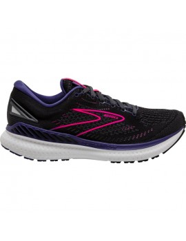 RUNNING SHOES BROOKS GLYCERIN GTS 19 BLACK AND PURPLE FOR WOMEN'S