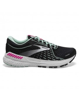 RUNNING SHOES BROOKS ADRENALINE GTS 21 BLACK AND BLUE FOR WOMEN'S