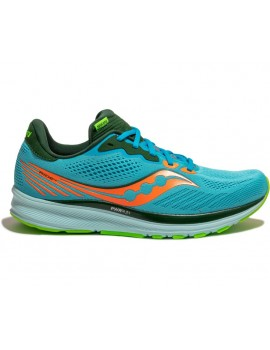RUNNING SHOES SAUCONY RIDE 14 BLUE FOR MEN'S