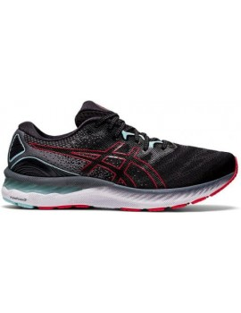 RUNNING SHOES ASICS GEL NIMBUS 23 BLACK AND RED FOR MEN'S