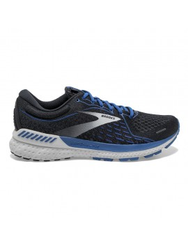 RUNNING SHOES BROOKS ADRENALINE GTS 21 GREY AND BLUE FOR MEN'S