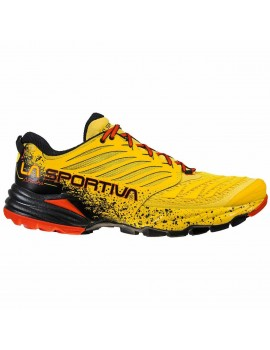 TRAIL RUNNING SHOES LA SPORTIVA AKASHA YELLOW AND BLACK FOR MEN'S