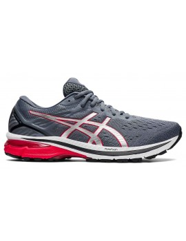 RUNNING SHOES ASICS GT 2000 V9 GREY AND RED FOR MEN'S