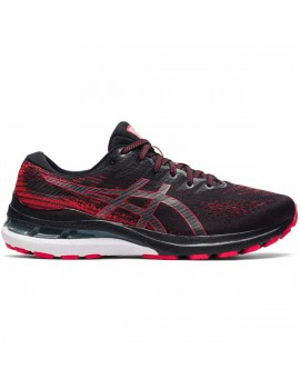 RUNNING SHOES ASICS GEL KAYANO 28 BLACK AND RED FOR MEN'S
