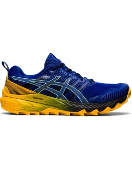 TRAIL RUNNING SHOES ASICS GEL TRABUCO 9 BLUE AND YELLOW FOR MEN'S