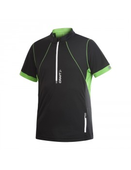 CRAFT TRAIL RUNNING HYBRID TEE BLACK AND GREEN FOR MEN'S