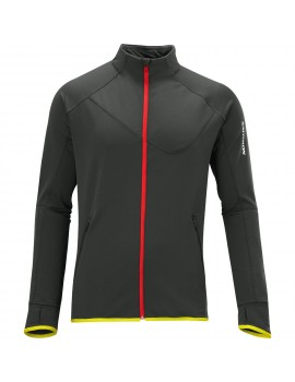 SALOMON SWIFT FZ MIDLAYER GREY AND RED FOR MEN'S