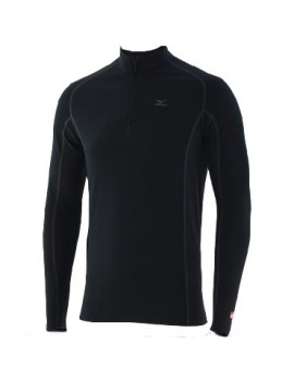 SOUS-VÊTEMENT MIZUNO BREATH THERMO MID WEIGHT ZIP SHIRT POUR HOMMES