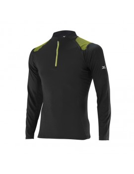 T-SHIRT DE TRAIL RUNNING MIZUNO BREATH THERMO 1/2 ZIP POUR HOMMES