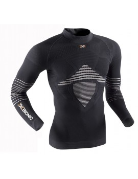 MULTISPORTS UNDERWEAR X-BIONIC ENERGIZER MK 2 TURTLE NECK BLACK AND WHITE FOR MEN'S