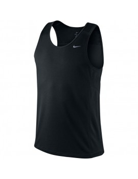 NIKE TRAINING MILER SINGLET BLACK FOR MEN'S