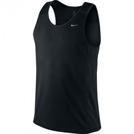 NIKE TRAINING MILER SINGLET BLACK FOR MEN S a0026f47682b