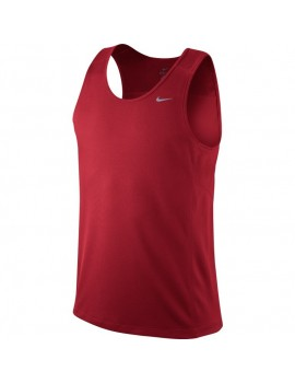 NIKE TRAINING MILER SINGLET RED FOR MEN'S