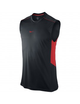 NIKE RUNNING SINGLET BLACK AND RED FOR MEN'S
