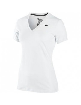 NIKE TRAINING COTTON SHIRT WHITE FOR WOMEN'S