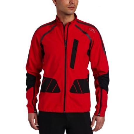 GORE RUNNING WEAR X-RUNNING AS JACKET RED AND BLACK FOR MEN'S