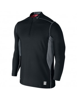 NIKE PRO COMBAT HYPERWARM MIDLAYER BLACK AND GREY FOR MEN'S