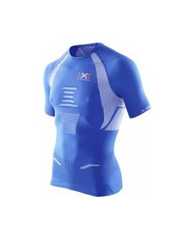 RUNNING SHIRT X-BIONIC THE TRICK BLUE AND WHITE FOR MEN'S