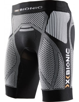 RUNNING SHORT X-BIONIC THE TRICK BLACK AND WHITE FOR MEN'S