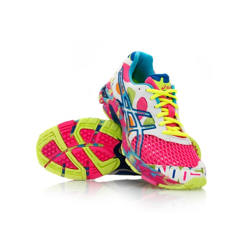 Chaussures Asics Gel Noosa Tri 7 Femme Blanc Rose Chaussures