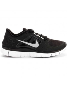 RUNNING SHOES NIKE FREE RUN + 3 BLACK AND WHITE FOR MEN'S