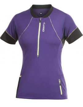 CRAFT PERFORMANCE HYBRID TEE PURPLE AND BLACK FOR WOMEN'S