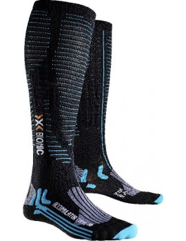 X-SOCKS EFFEKTOR COMPETITION SOCKS BLACK AND BLUE W