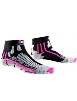 X-SOCKS RUN SPEED TWO GREY, BLACK AND PINK