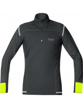 GORE RUNNING WEAR MYTHOS 2.0 MIDLAYER BLACK AND YELLOW FOR MEN'S
