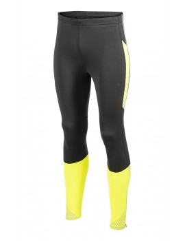 COLLANT DE RUNNING CRAFT PERFORMANCE BRILLANT THERMAL NOIR ET JAUNE POUR HOMMES