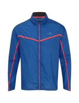RONHILL TRAIL RUNNING MICROLIGHT JACKET BLUE AND ORANGE FOR MEN'S