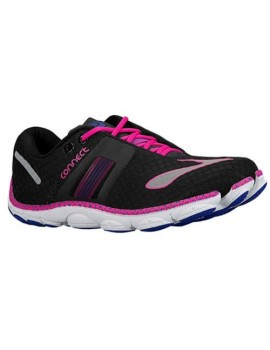 RUNNING SHOES BROOKS PURECONNECT 4 BLACK AND PINK FOR WOMEN'S