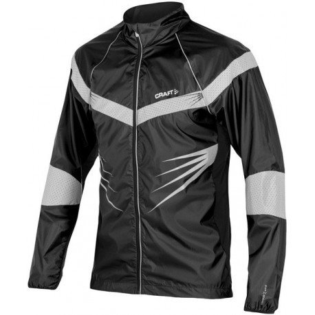 CRAFT RUNNING BRILLANT JACKET BLACK AND GREY FOR MEN'S