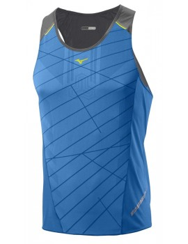 MIZUNO DRYLITE PREMIUM SINGLET BLUE FOR MEN'S