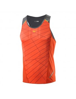 MIZUNO DRYLITE PREMIUM SINGLET ORANGE FOR MEN'S