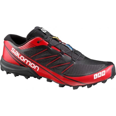 separation shoes 92ff5 82fa8 TRAIL RUNNIGN SHOES SALOMON S-LAB FELLCROSS 3 BLACK AND RED FOR MEN S