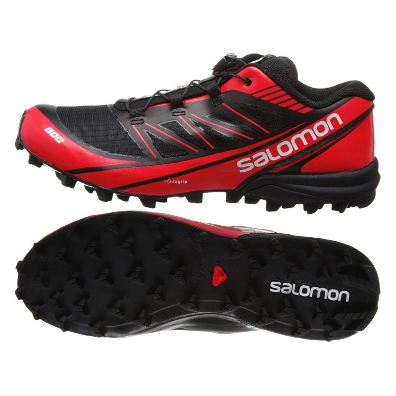 free shipping 91486 7afd3 TRAIL RUNNIGN SHOES SALOMON S-LAB FELLCROSS 3 BLACK AND RED FOR ...