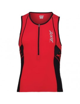 ZOOT PERFORMANCE TRI 1/2 ZIP TANK RED FOR MEN'S