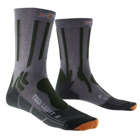 X-SOCKS TREKKING LIGHT GREY AND BLACK