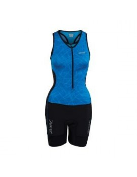 ZOOT PERFORMANCE TRI RACESUIT FRONT ZIP BLUE AND BLACK FOR WOMEN'S
