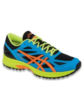 TRAIL RUNNING SHOES ASICS GEL FUJIPRO BLUE AND YELLOW FOR MEN'S