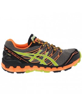 TRAIL RUNNING SHOES ASICS GEL FUJISENSOR 3 GTX GREY AND ORANGE FOR MEN'S