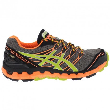 d081b106116c TRAIL RUNNING SHOES ASICS GEL FUJISENSOR 3 GTX GREY AND ORANGE FOR MEN S