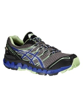 TRAIL RUNNING SHOES ASICS GEL FUJISENSOR 3 GTX GREY AND PURPLE FOR WOMEN'S