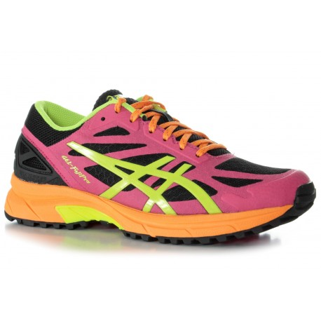 buy online d8a31 a5c0a TRAIL RUNNING SHOES ASICS GEL FUJIPRO BLACK, PINK AND YELLOW FOR WOMEN S