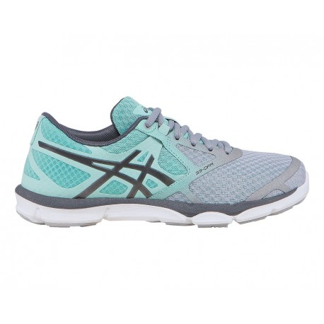 b59abc58ad32 RUNNING SHOES ASICS 33-DFA GREY AND BLUE FOR WOMEN S