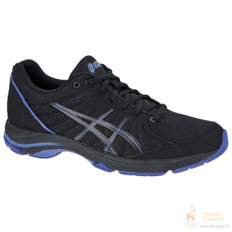 FITNESS SHOES ASICS AYAMI-ZONE BLACK AND PURPLE FOR WOMEN'S