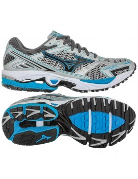 RUNNING SHOES MIZUNO WAVE ULTIMA 3 GREY AND BLUE FOR WOMEN'S