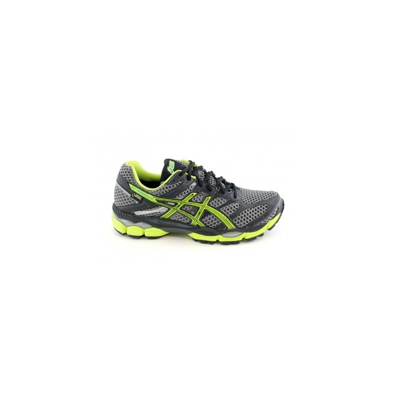 32bb9147d7 RUNNING SHOES ASICS GEL CUMULUS 16 GTX GREY AND YELLOW FOR MEN S ...